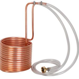 copper immersion chiller, chiller, wort chiller